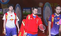 包宜鑫/汤金华VS区冬妮/唐渊渟 2013香港公开赛 女双决赛视频