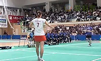 高桥沙也加VS北春菜 2013日本羽毛球联赛 女单资格赛视频