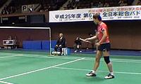 佐藤冴香VS今別府香里 2013日本全国锦标赛 女单1/4决赛视频