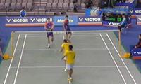 康骏/刘成VS云天豪/陈伟强 2014韩国公开赛 男双1/16决赛视频