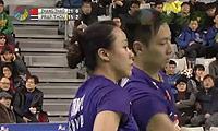 张楠/赵芸蕾VS苏吉特/莎拉丽 2014韩国公开赛 混双1/4决赛视频