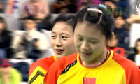 包宜鑫/汤金华VS骆赢/骆羽 2014韩国公开赛 女双决赛视频