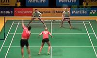 爱德考克/加布里VS刘成/包宜鑫 2014马来公开赛 混双1/16决赛视频