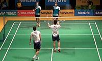 傅海峰/张楠VS金基正/金沙朗 2014马来公开赛 男双1/16决赛视频