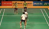 马晋/唐渊渟VS当甲农/库查拉 2014马来公开赛 女双1/8决赛视频