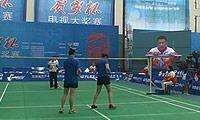 刘莎/范晶晶(四川)VS龚澄/刘海萍(上海) 2014贺岁杯对抗赛 女双资格赛视频