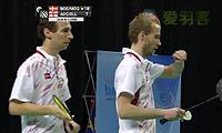 鲍伊/摩根森VS埃利斯/爱德考克 2014欧洲团体锦标赛 男双决赛视频