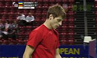 扎瓦德斯基VS茨维布勒 2014欧洲团体锦标赛 男单1/4决赛视频