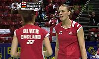 格里斯威斯基/迈克斯VS奥利弗/罗伯特肖 2014欧洲团体锦标赛 女双1/4决赛视频
