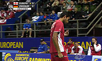 欧斯夫VS茨维布勒 2014欧洲团体锦标赛 男单半决赛视频