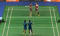 郑景银/金荷娜VS马晋/王晓理 2014新加坡公开赛 女双1/16决赛视频