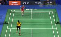 辛德胡VS打田志津香 2014新加坡公开赛 女单1/8决赛视频