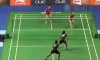 松友美佐纪/高桥礼华VS安迪妮/蒂亚拉 2014新加坡公开赛 女双1/4决赛视频
