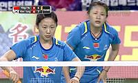 骆赢/骆羽VS金荷娜/郑景银 2014亚锦赛 女双决赛视频