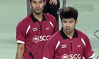 申白喆/柳延星VS玛尼蓬/尼迪蓬 2014亚锦赛 男双半决赛视频