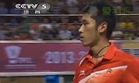 田厚威VS杨晨 2013中国羽超联赛 男单决赛视频