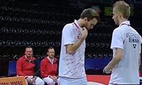摩根森/尼尔森VS邓俊文/李晋熙 2014汤姆斯杯 男双资格赛视频