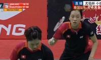 周凯华/潘乐恩VS沙威丽/当甲农 2014尤伯杯 女双资格赛视频