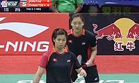 陈祉嘉/谢影雪VS库查拉/沙西丽 2014尤伯杯 女双资格赛视频