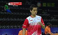 西蒙VS李冠霆 2014汤姆斯杯 男单资格赛视频