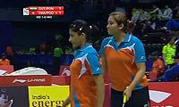 古塔/蓬纳帕VS周凯华/潘乐恩 2014尤伯杯 女双资格赛视频