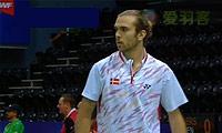 约根森VS欧斯夫 2014汤姆斯杯 男单资格赛视频