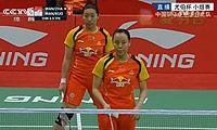王晓理/赵芸蕾VS王沛蓉/郭浴雯 2014尤伯杯 女双资格赛视频