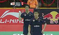 科丁/彼德森VS早川贤一/远藤大由 2014汤姆斯杯 男双资格赛视频