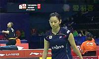 高桥沙也加VS延森 2014尤伯杯 女单资格赛视频