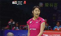 广濑荣理子VS图拉西 2014尤伯杯 女单半决赛视频