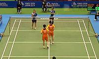 区冬妮/熊梦静VS高爱罗/柳海媛 2014日本公开赛 女双1/16决赛视频