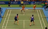 包宜鑫/汤金华VS伊拉瓦蒂/玛丽莎 2014日本公开赛 女双1/16决赛视频