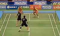 福克斯/迈克斯VS刘成/包宜鑫 2014日本公开赛 混双1/8决赛视频