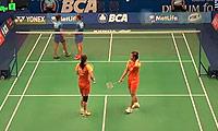 田卿/赵芸蕾VS安迪妮/蒂亚拉 2014印尼公开赛 女双1/16决赛视频