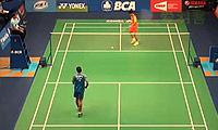 陈跃坤VS斯里坎特 2014印尼公开赛 男单1/16决赛视频