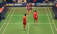 费尔纳迪/基多VS陈甲志/苏马万 2014印尼公开赛 男双1/8决赛视频