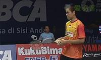胡赟VS西蒙 2014印尼公开赛 男单1/8决赛视频