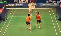 傅海峰/张楠VS鲍伊/摩根森 2014印尼公开赛 男双1/8决赛视频