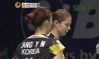 张艺娜/金昭映VS佩蒂森/尤尔 2014印尼公开赛 女双1/4决赛视频
