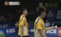 李龙大/柳延星VS陈文宏/陈炜强 2014印尼公开赛 男双1/4决赛视频