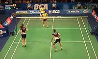 马晋/唐渊渟VS张艺娜/金昭映 2014印尼公开赛 女双半决赛视频