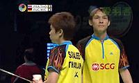 福克斯/迈克斯VS苏吉特/莎拉丽 2014澳洲公开赛 混双半决赛视频