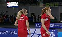 许嘉雯/温可微VS加布里/L.史密斯 2014英联邦运动会羽毛球 女双半决赛视频
