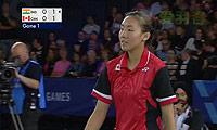 李文珊VS辛德胡 2014英联邦运动会羽毛球 女单半决赛视频
