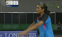 辛德胡VS郑清亿 2014英联邦运动会羽毛球 女单铜牌战视频