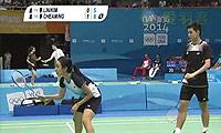 詹俊为/吳芷柔VS林贵埔/金佳恩 2014青奥会 混双资格赛视频