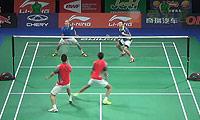 李俊慧/刘雨辰VS坎贝尔/麦克休 2014羽毛球世锦赛 男双资格赛视频
