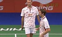 鲍伊/摩根森VS福克斯/舍特勒 2014羽毛球世锦赛 男双1/8决赛视频