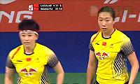 于洋/王晓理VS骆赢/骆羽 2014羽毛球世锦赛 女双1/4决赛视频