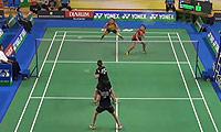 邹美君/李明艳VS玛哈黛维/奥克拉莫纳 2014印尼大师赛 女双1/8决赛视频